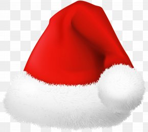 Fluffy Santa Hat Clip Art Image - Santa Claus Clip Art PNG