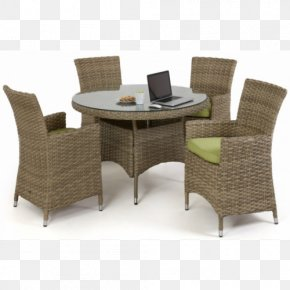 Table - Table Rattan Chair Dining Room Garden Furniture PNG