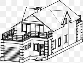Home - Line Art Home Architecture Drawing House PNG