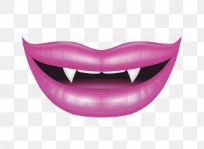 Vampire Lips - Lip Vampire Smile Illustration PNG