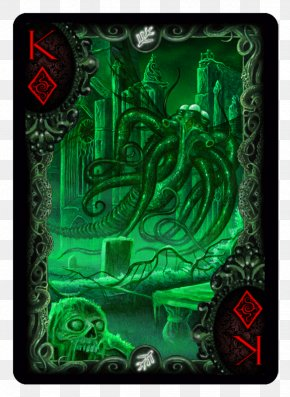 Hand-painted Boxes - Call Of Cthulhu Bicycle Playing Cards Card Game PNG