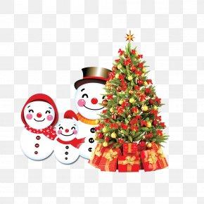 Snowman Christmas Tree - Christmas Tree Snowman PNG