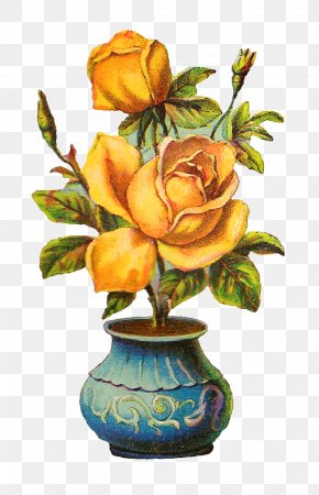 Flower Pot - Flowerpot Vase Rose Plant PNG