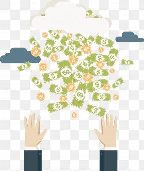 Vector Money Rain - Banknote Currency Euclidean Vector PNG