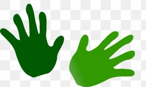 Pictures Of Open Hands - Drawing The Head And Hands Green Clip Art PNG