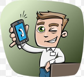 Boy,Phone,smile - Smartphone Message Telephone Call Illustration PNG