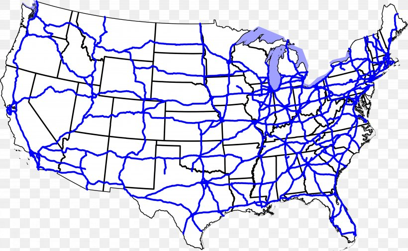 US Interstate Highway System U.S. Route 66 Interstate 40 ...