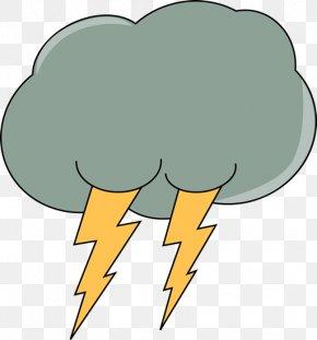 Cloud Lightning Cliparts - Lightning Cloud Thunderstorm Rain Clip Art PNG