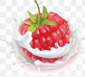 Raspberry Milk - Juice Milk Frutti Di Bosco Raspberry Yogurt PNG