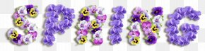 Spring Text Flowers PNG
