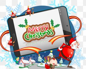 Christmas Tablet PC Illustration Ad - IPad Macintosh Computer Illustration PNG