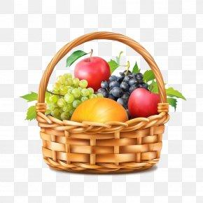 Food Group Gift Basket - Natural Foods Basket Fruit Wicker Food PNG