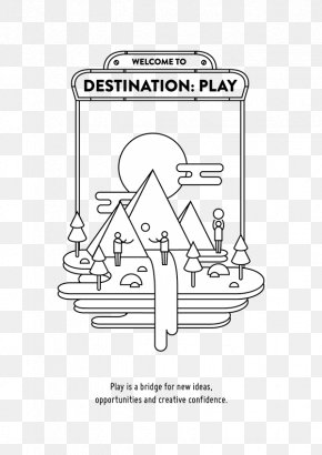 Play Illustration - Paper Product Design Line Art Illustration PNG