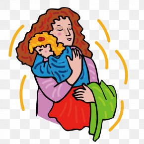 Mother Holding A Child - Child Cartoon Illustration PNG