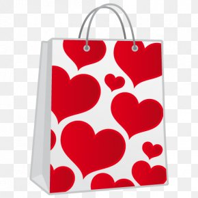 Shopping Bag - Valentines Day Heart February 14 Icon PNG