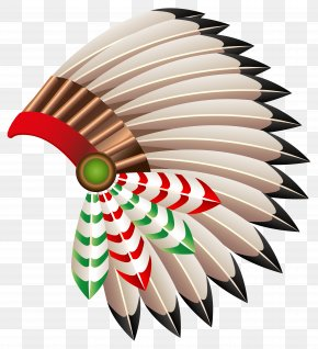 Native American Chief Hat Transparent Clip Art Image - War Bonnet Native Americans In The United States Hat Headgear Clip Art PNG