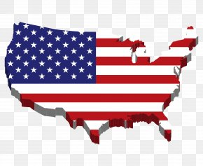 United States Map - Flag Of The United States Map Clip Art PNG
