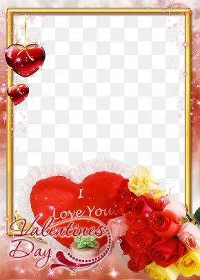 Love Frame File - Rose Love Valentines Day Flower Wallpaper PNG