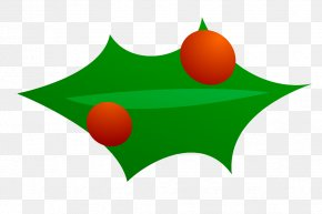 Christmas Tree Vector Art - Common Holly Christmas Decoration Clip Art PNG
