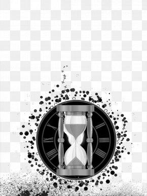 Time Passes, Black And White Illustrations - Black And White Time Illustration PNG
