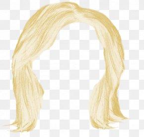 Blonde Hair - Wig PNG