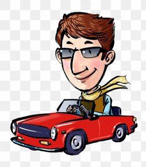 Driving Driver - Cartoon Driving PNG