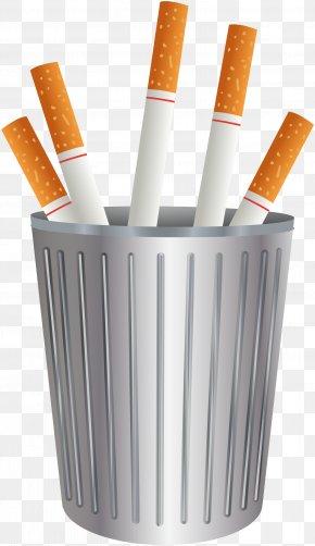 Vector Trash Can - Cigarette Waste Computer File PNG