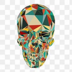 Polygon Skull Pattern - Skull Calavera T-shirt Polygon PNG