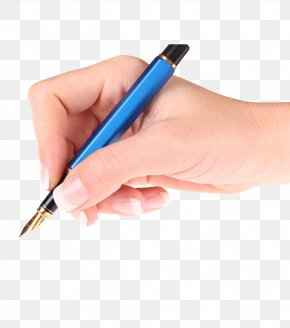 Hand Holding A Pen Writing - Paper Pen Writing Hand Stock Photography PNG