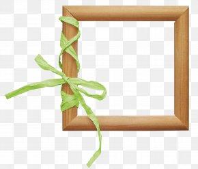 Ribbon Frame - Easter Bunny Picture Frame Clip Art PNG