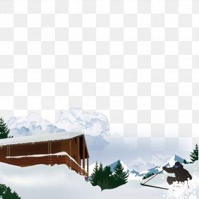 Snow House - Beautiful Mountain Snow Euclidean Vector PNG