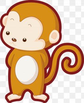 Monkey Vector - Monkey Cartoon Illustration PNG