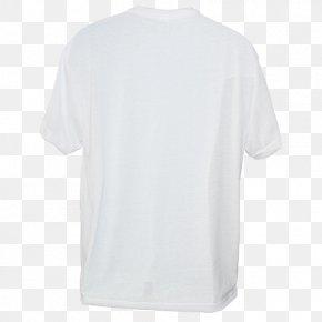 White T-shirt - T-shirt Neckline Sleeve Crew Neck Collar PNG