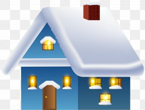 Blue Winter House Transparent Image - Amazon.com Winter House Snow Igloo PNG