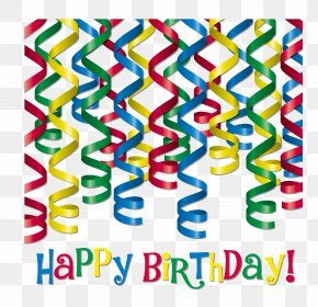 Birthday Party Ribbon - Independence Day Clip Art PNG