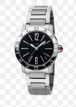 Bulgari Watches Silver Black Watch Female Form - Automatic Watch TAG Heuer Jewellery Omega Seamaster PNG