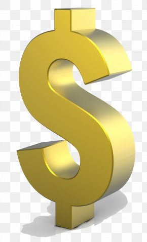 Gold Dollar HD - Dollar Sign Clip Art PNG