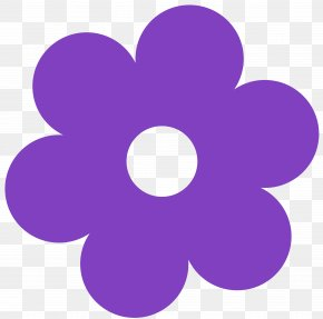 Flower Clip Art - Purple Flower Yellow Clip Art PNG