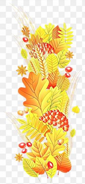 Vascular Plant Flower - Leaf Yellow Plant Clip Art Flower PNG