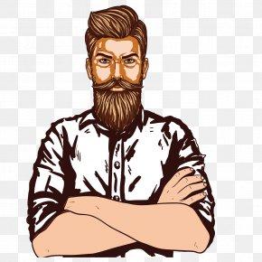 Vector Hand-painted Beard Man - Beard Man Page VectorDesigner PNG