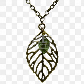 Leaf Pendant - Earring Jewellery Necklace Silver Gemstone PNG