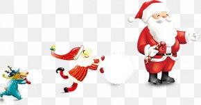 Lovely Santa Claus - Rudolph Santa Claus Reindeer Christmas PNG