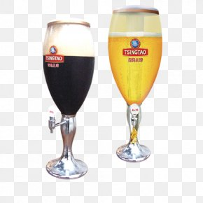 Wine - Beer Glassware Wine Glass Tsingtao Brewery Champagne Glass PNG