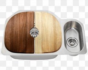 Steel Dish - Kitchen Sink Stainless Steel Brushed Metal Kitchen Sink PNG
