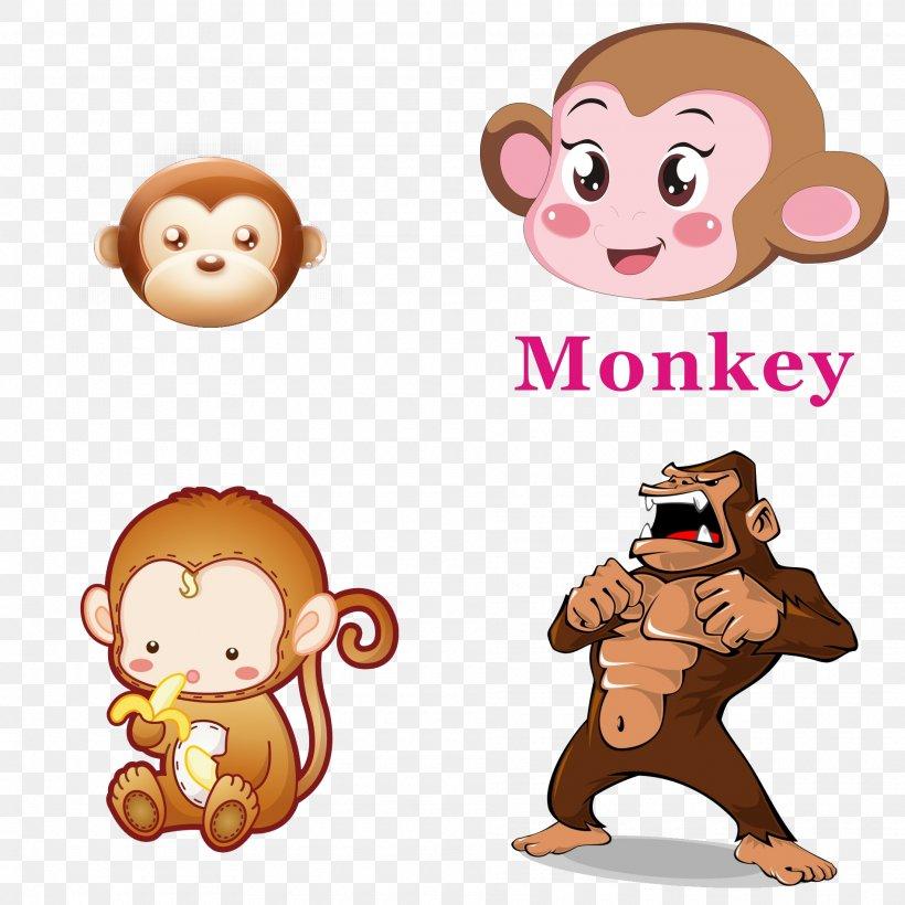 Western Gorilla Ape Clip Art, PNG, 1900x1900px, Western Gorilla, Anger, Ape, Cartoon, Drawing Download Free