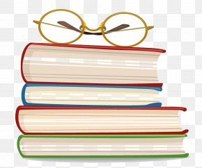 Glasses On A Pile Of Books - Book Euclidean Vector Adobe Illustrator PNG