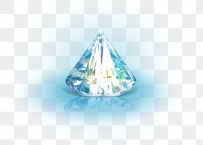 Diamond - Crystal Blue Triangle Diamond Pattern PNG