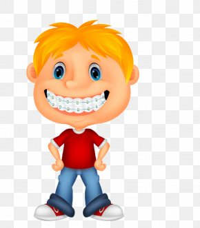 Cartoon Cartoon Child Care Products - Dental Braces Child Drawing Illustration PNG