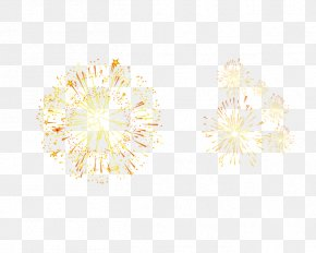 Fireworks - Yellow Pattern PNG