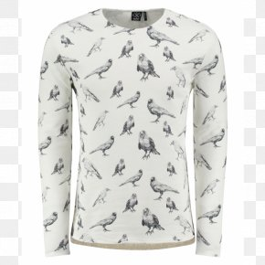 T-shirt - T-shirt Sleeve Sweater White PNG